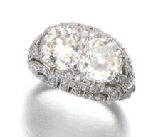 Diamond ring, circa 1910s.  Sotheby's