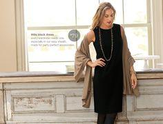 J Jill Little Black Dress. So easy to dress up or down!