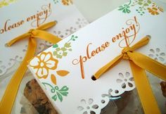 Love this paper craft to label cello bags for gifts : )