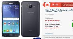 Samsung Galaxy J7 Duos Preto com Tela de 55 4G 16 GB e Câmera de 13 MP << R$ 93295 >>