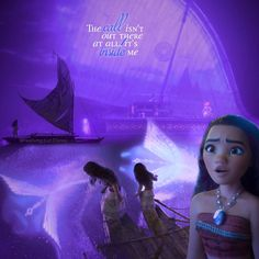 """The call isn't out there at all. It's inside me."" #moana #disney #disneyquotes #moviequotes #quote"