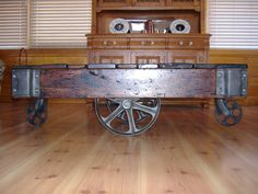 Antique Railroad Cart by RusticandReclaimed on Etsy