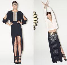sass & bide 2014 Pre Fall Womens Presentation - Pre Autumn Collection Looks - Art Deco Metallic Gold Embellishments Embroidery Denim Jeans S...