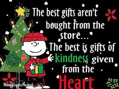 Charlie Brown xmas gifts quote.