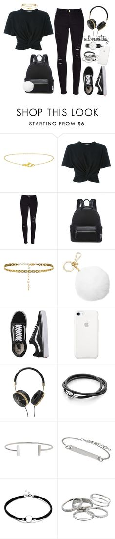 """""""21❤"""" by inlovewithtay ❤ liked on Polyvore featuring T By Alexander Wang, Frame, Michael Kors, Vans, Frends, Humble Chic, Topshop, Kendra Scott and Daniel Wellington"""
