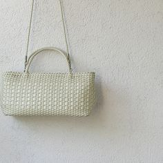 Vintage White Ivory handbag Vintage bag 80s by DamovFashion, zł126.00
