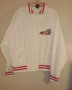 Men's Vintage Aristo Jac Kellogg's Corn Flakes Racing Team L White Nylon Jacket #AristoJac #Bomber