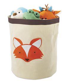 Fox storage bin for toys