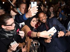 The actor takes a selfie with fans at the premiere of Concussion during AFI FEST 2015 presented by Audi at TCL Chinese Theatre in Hollywood.