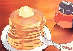 Torre di pancakes con sciroppo d'acero (Log Horizon)
