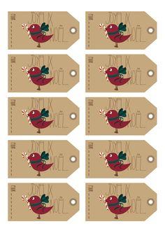 celui là cro craquant !! Etiquettes Noel Birdy par Mary Birdy  Printable Gift Tag