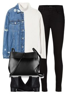 """""""Untitled #3920"""" by london-wanderlust ❤ liked on Polyvore featuring J Brand, Rebecca Taylor, Zara, Kara and Acne Studios"""