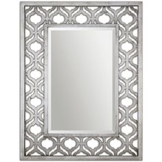 Frame Features A Decorative Design Finished In Antiqued Silver Leaf With Black Undertones. Mirror Is Beveled. May Be Hung Horizontal Or Vertical.Frame Features A Decorative Design Finished In Antiqued Silver Leaf With Black Undertones. Silver Wall Mirror, Wood Framed Mirror, Wall Mounted Mirror, Beveled Mirror, Wall Mirrors, Mirror Glass, Bathroom Mirrors, Bathrooms, Mirror Mirror