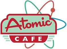 Atomic Cafe Logo Design - Zoe Tubbenhauer Portfolio - The Loop Retro Cafe, Cafe Logo, Creative Jobs, Signwriting, Retro Girls, Atomic Age, Creative Portfolio, Googie, Logo Google