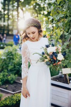 Wedding dress Boho wedding dress Romantic by BridalgardenStudio