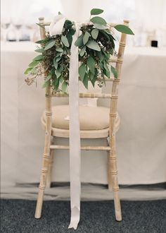 chivari chairs with floral detail