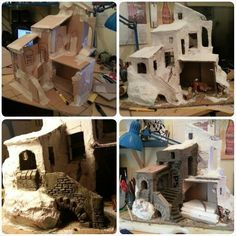 Pin by Isabel Guzman on Nativity Christmas Nativity Scene, Cool Christmas Trees, Christmas Villages, Christmas Background, Christmas Wallpaper, Noel Christmas, Christmas Crib Ideas, Christmas Crafts, Christmas Decorations