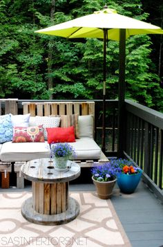 Summer Outdoor Space With Tips For Repelling Mosquitos Outdoor Pallet,  Outdoor Sofa, Outdoor Decor