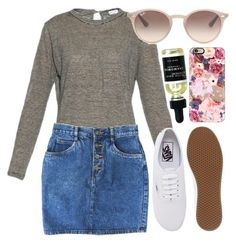 """""""pretty little girl"""" by helloimweird13 ❤ liked on Polyvore featuring Brunello Cucinelli, Vans, Casetify and Ray-Ban"""