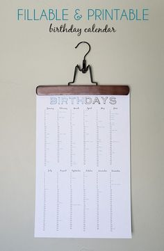 Terrific Screen birthday calendar printables Concepts The newest calendar year will be coming whilst it does not take ideal year or so setting new file sizes plus a. Diy Calendar, Printable Calendar Template, Printable Planner, Free Printables, Calendar Stickers, Birthday Calender, Perpetual Birthday Calendar, Imprimibles Baby Shower, Birthday Charts