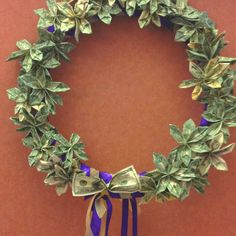 how to make grads money wreath