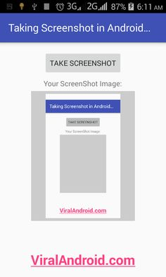 Android Example: Taking Screenshot Programmatically in Android