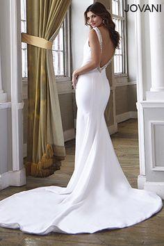 Jovani Bridal JB25706 http://www.jovani.com/wedding-dresses/plunging-neckline-bridal-dress-jb25706