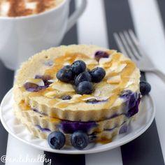 Blueberry pancakes/Panquecas de mirtilos