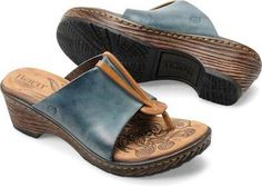 6ca41517d359 Hanita in Blue - The subtlety of leather in rich color combinations gives  this comfort style