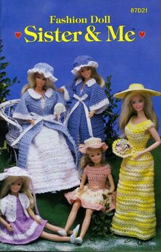 Stone Hill Creek - Barbie Doll & Sister Fashion Crochet Patterns Dresses Shorts Housecoat, $10.00 (http://www.stonehillcreek.com/barbie-doll-sister-fashion-crochet-patterns-dresses-shorts-housecoat/)
