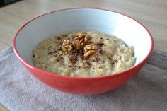 kaša s jablkami Oatmeal, Food And Drink, Healthy Recipes, Cooking, Breakfast, Fit, Kitchen, Health Recipes, Cuisine