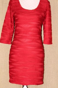 DRESS! Forever 21 Fabulous Red Size Medium Poly Women's Dress Super Fab!  #FOREVER21 #Sexy #Festive