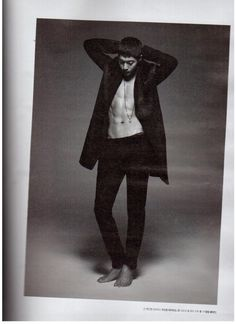 kim hyun joong... Not sure why but this photo shoot with bare feet is somehow way sexier than with footwear...:p