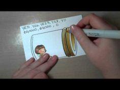 Copic coloring of a Mason jar image