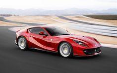 Ferrari 812 Superfast, raceway, 2018 cars, motion blur, supercars, Ferrari