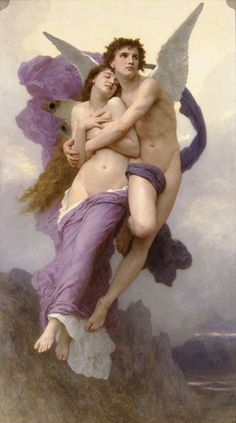 La Ravissement de Psyche' (1895) – William Adolphe Bouguereau    Cupid and Psyche