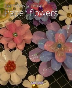 Diy paper flower pattern and instructions paper pinterest want to decorate a scrapbook card or treasure box learn to make these gorgeous layered paper flowers that are sparkly colorful and versatile mightylinksfo Gallery