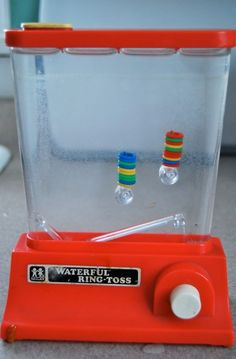 Water games - had a number of these as a kid. Always provided hours of fun!
