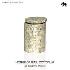 Keeping cotton safe just went up a notch higher with this stylish container. It has been beautifully crafted & can be used to store anything from soft cotton to other daily routine items. Don't forget to purchase your own jar now on www.decorstory.in!