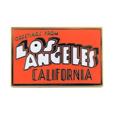 """Inspired by vintage postcards, the perfect way to represent your favorite city. • 1.25"""" Hard Enamel Pin"""