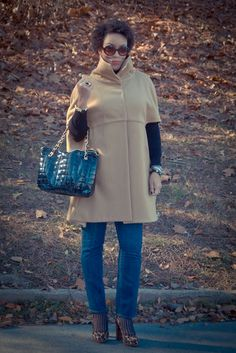 Review: Vogue 8776 | Camel Cape | Erica B.'s - D.I.Y. Style!  I think this can be steamed up!