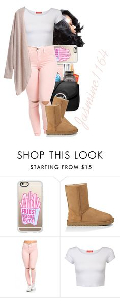 """""""Untitled #789"""" by jasmine1164 ❤ liked on Polyvore featuring Casetify, UGG Australia and Influence"""