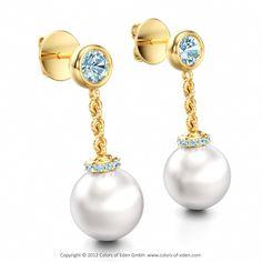Hmmmmmmm something blue?? Pearl Earrings #pearl #earrings