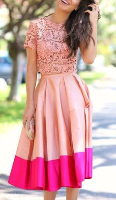 Peach and pink