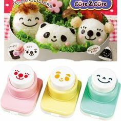 Reuse scrapbooking punchouts to decorate your bento box!