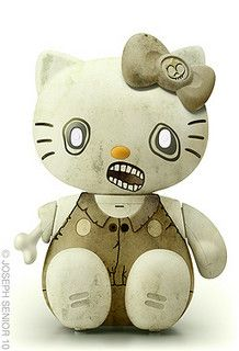 Hello zombie Kitty by yodaflicker, via Flickr