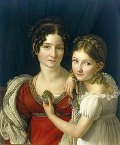 Henri-François Riesener (1767–1828)   Portrait of a mother and daughter  Date1816–1823