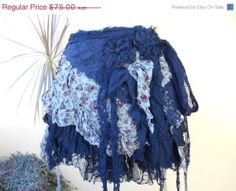"SALE AWAY vintage inspired extra shabby skirt...a work of art and love...42"" across"