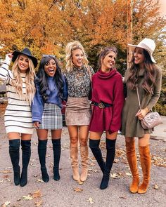 Great inspiration ideas fall-winter outfits Be Badass II Fashion & Lifestyle Tania Cute Fall Outfits, Fall Winter Outfits, Trendy Outfits, Autumn Winter Fashion, Fall Party Outfits, Christmas Outfits For Women, Outfits With Boots, Winter Night Outfit, Cute Thanksgiving Outfits