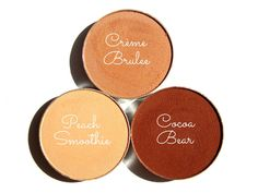 Makeup Geek Peach Smoothie, Creme Brulee, Cocoa Bear Review, Photos, Dupes